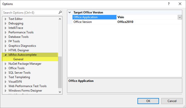 Introducing IdMso visual studio extension – Unmanaged Visio